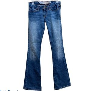 Abercrombie & Fitch stretch low rise blue jeans